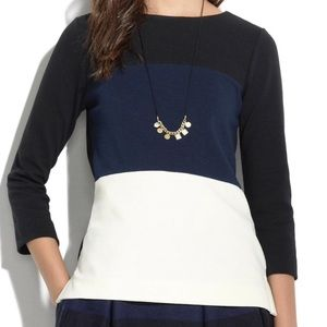 Madewell Gallerist Color Block Ponte Shirt Small